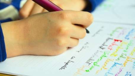 A student working on homework.