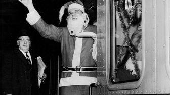 Steve Anglin of Babylon, dressed as Santa Claus,