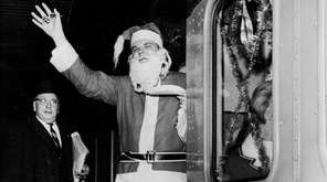Steve Anglin of Babylon, dressed as Santa Claus,