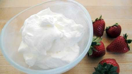 Properly whipped cream is thick, but also soft,