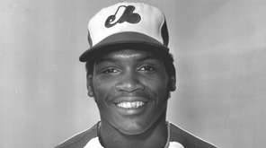 Tim Raines of the Montreal Expos poses in