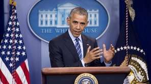 President Barack Obama holds a year-end news conference
