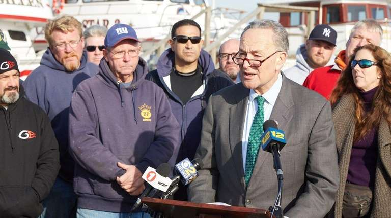 U.S. Senator Charles E. Schumer speaks at a