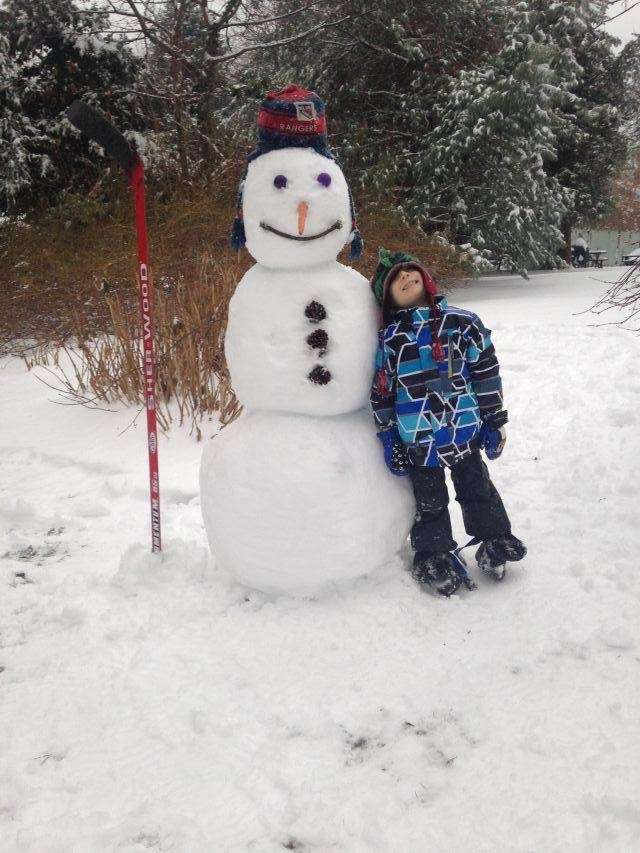 Dylan Jankowski and Frosty