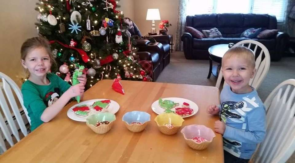 Christmas cookies for Santa. These are my grandchildren,