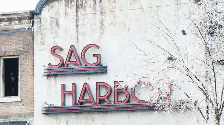 Firefighters from the Sag Harbor Fire Dept. and