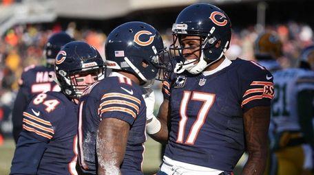 Chicago Bears wide receiver Josh Bellamy celebrates with