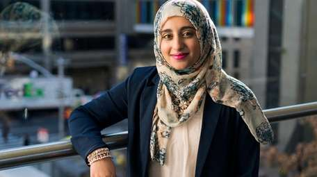 Faiza Masood, a senior at Hunter College, is