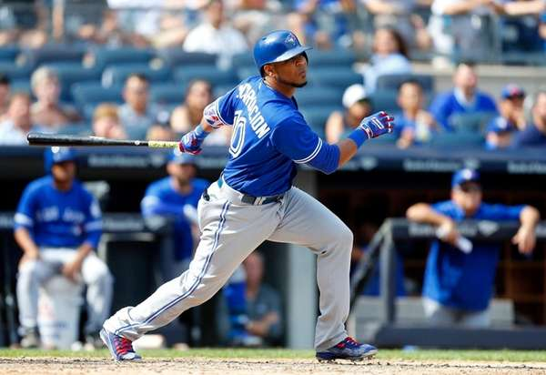 Edwin Encarnacion #10 of the Toronto Blue Jays