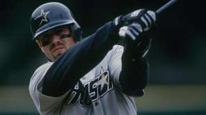 Jeff Bagwell of the Houston Astros against the