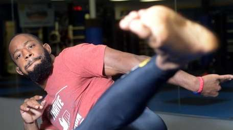 MMA fighter Andre Harrison, from Freeport, train at