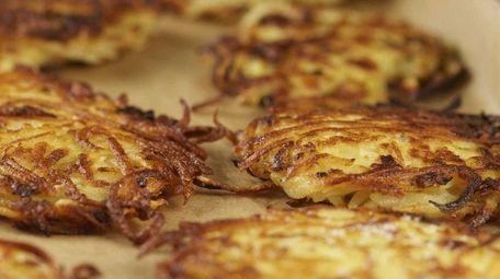 Use plenty of oil when making potato latkes.