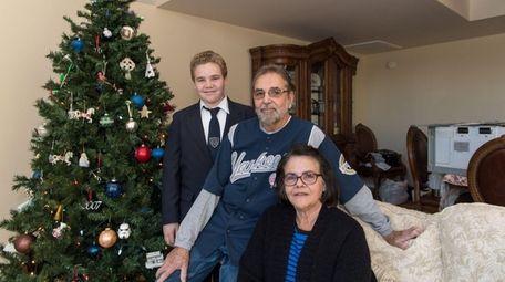 John Blanco, Eileen Blanco and grandson Joey, 13,