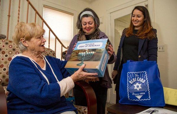Holocaust survivor Magda Rosenberg receives Hanukkah care package