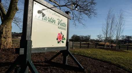 The entrance to Martin Viette Nurseries in Muttontown,
