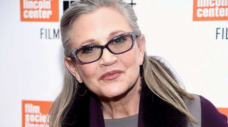 Carrie Fisher in October; she suffered a