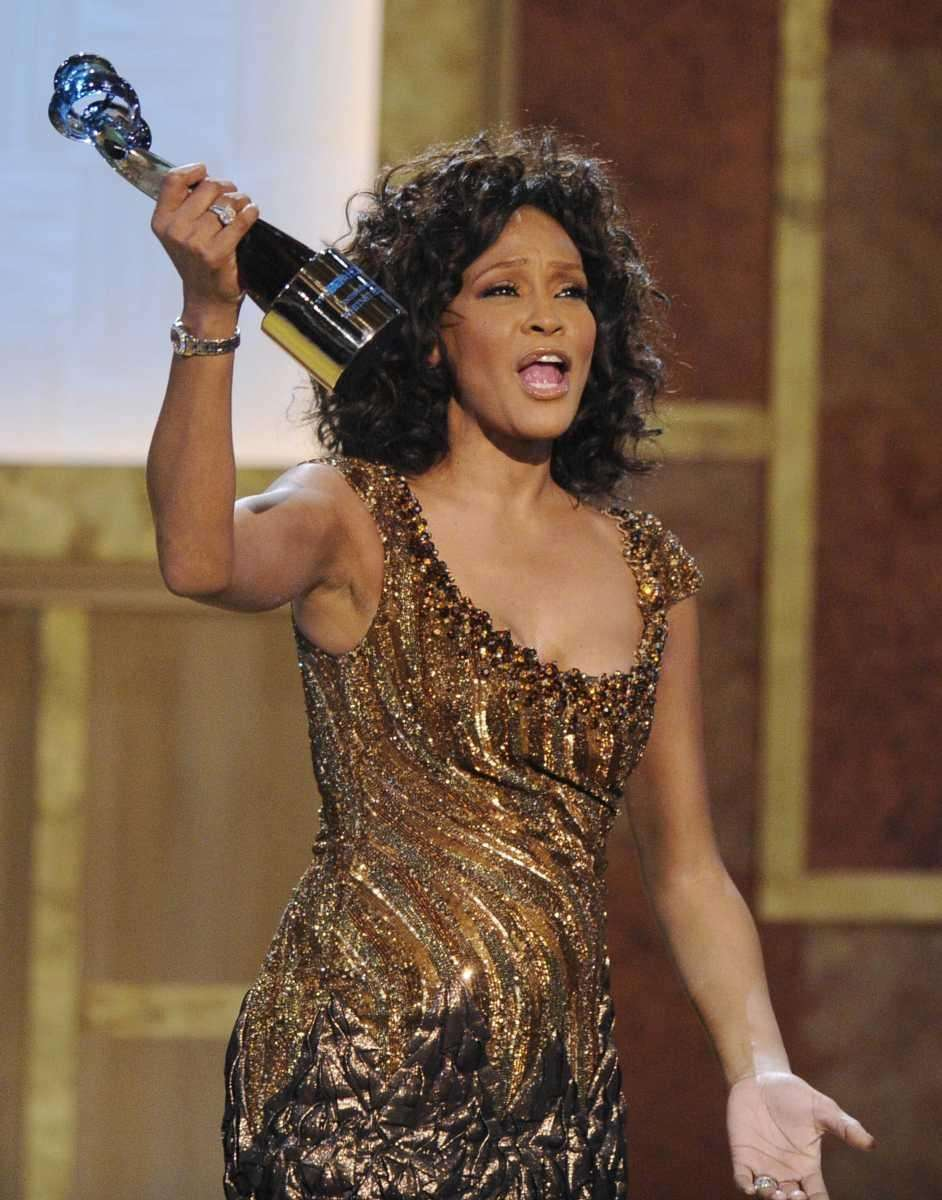 Singer and actress Whitney Houston, a six-time Grammy