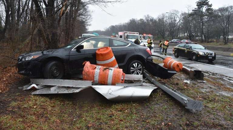 State Police respond to a multivehicle crash on