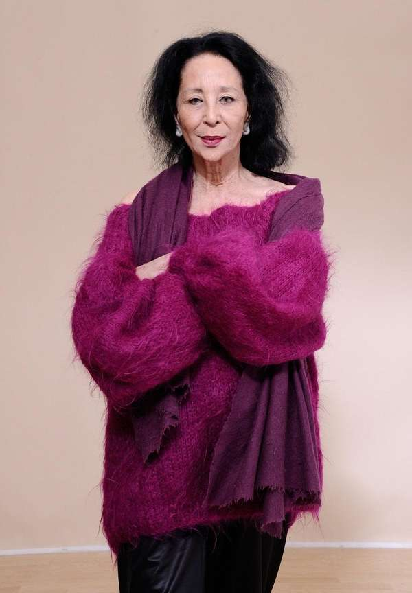Supermodel China Machado poses for a portrait during