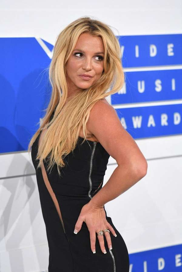 Britney Spears, above at the MTV VMAs in