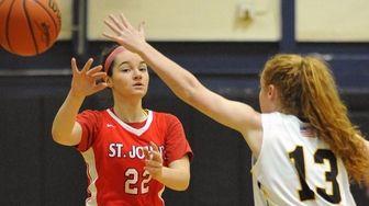 Megan McBrien #22 of St. John the Baptist,