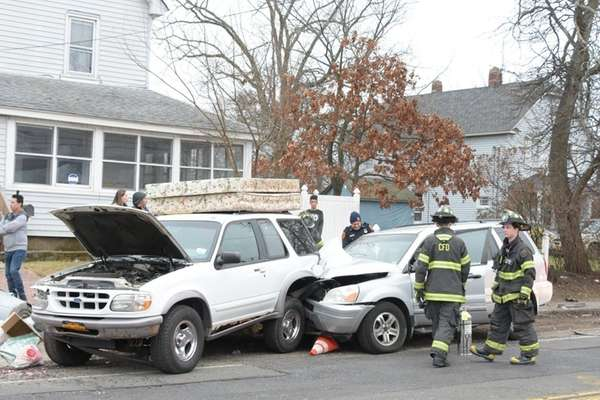 The Copiague Fire Department and Suffolk County police
