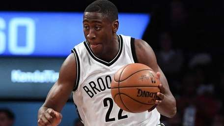Brooklyn Nets guard Caris LeVert brings the ball