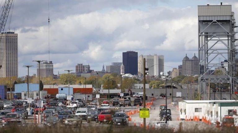 The Buffalo skyline on Saturday, Oct. 17, 2015.