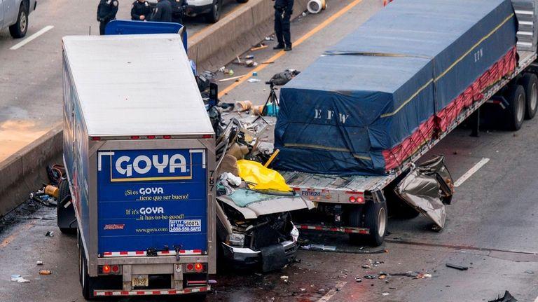 Scene of fatal crash on the Cross Bronx