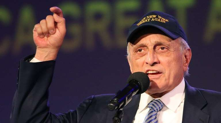 Carl Paladino speaks at a fundraiser attended by