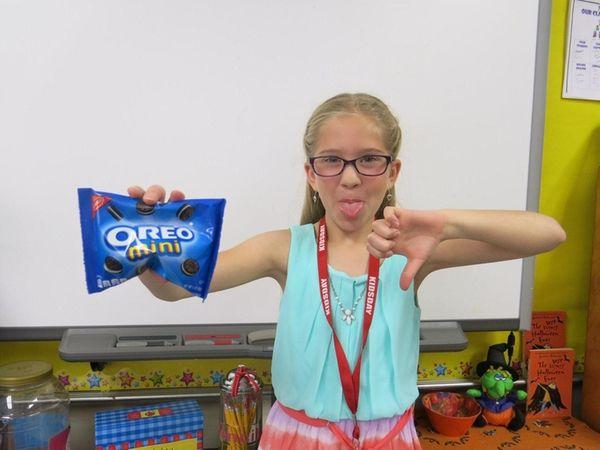 Kidsday reporter Cecelia Albertina does not like chocolate.