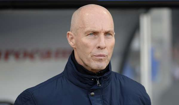 Swansea manager Bob Bradley watches the action during