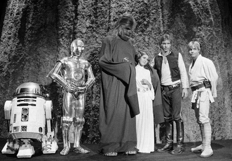 Kenny Baker, Anthony Daniels, Peter Mayhew, Carrie Fisher,