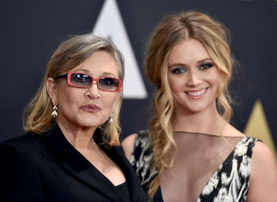 Carrie Fisher, and her daughter, Billie Catherine Lourd,
