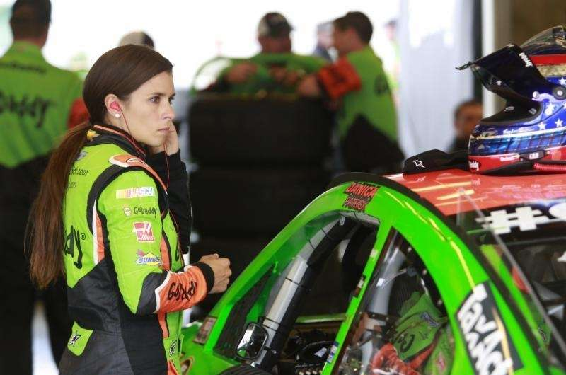 You'll usually find NASCAR driver Danica Patrick in
