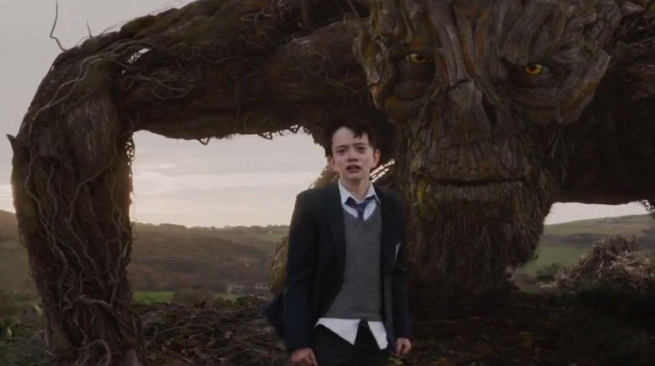 A boy seeks the help of a tree