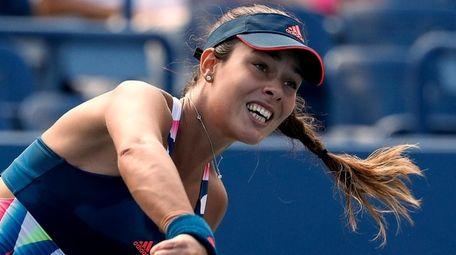 Ana Ivanovic of Serbia serves to Denisa Allertova
