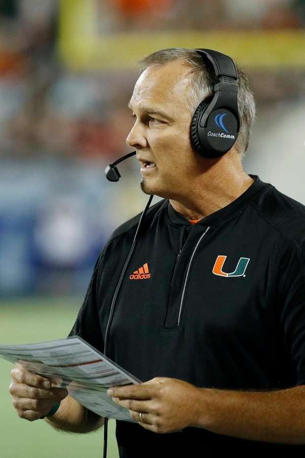 Head coach Mark Richt of the Miami Hurricanes