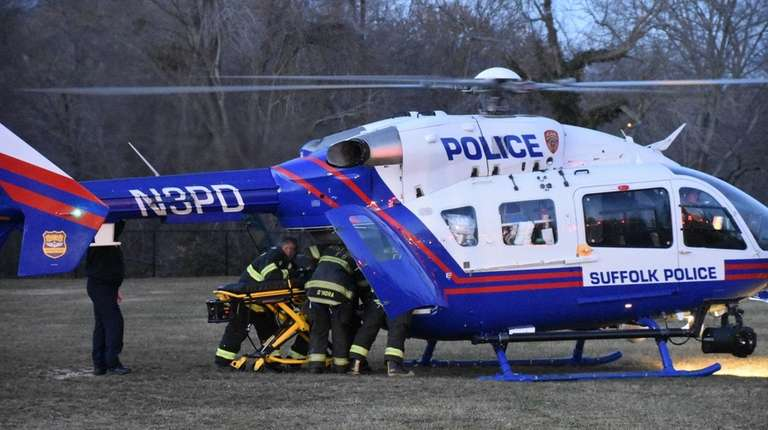 A West Islip man was airlifted to Stony