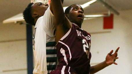 Lavon Montgomery of Bayshore shoots the ball against