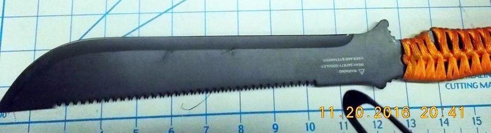 tsa We've heard (from a friend) that machetes