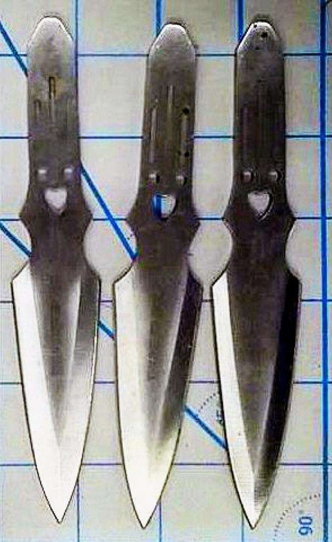 tsa These happy little throwing knives were discovered
