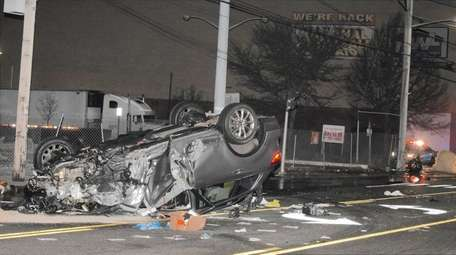 One driver was arrested after a two-vehicle crash