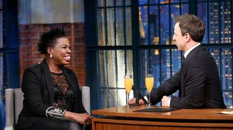 Leslie Jones, left, will be on Seth Meyers'