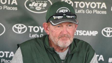 New York Jets offensive coordinator Chan Gailey speaks