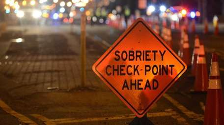 Nassau police conduct a DWI checkpoint on Jan.