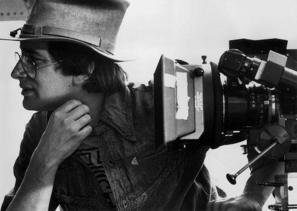 Steven Spielberg on the set of