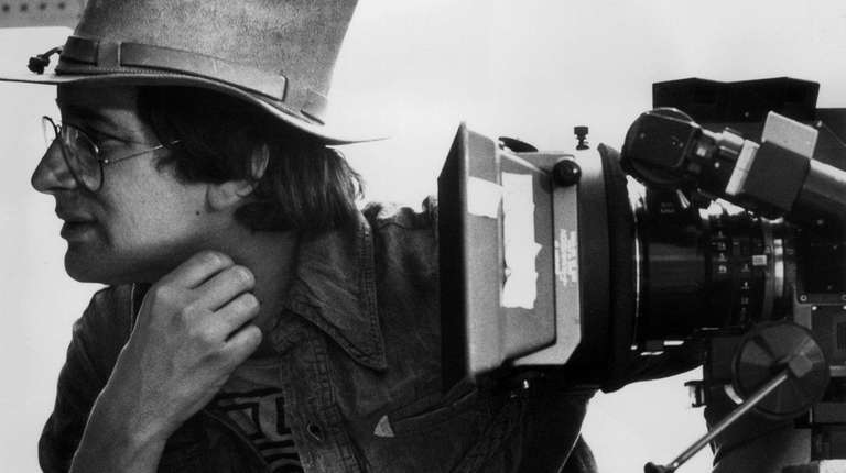 Steven Spielberg on the set of