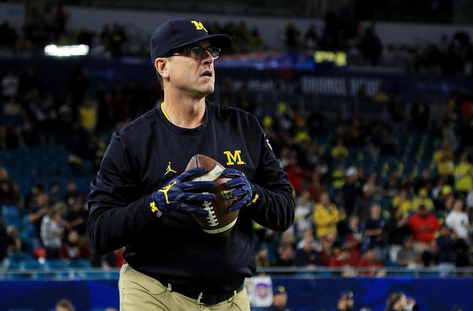 Head coach Jim Harbaugh of the Michigan Wolverines