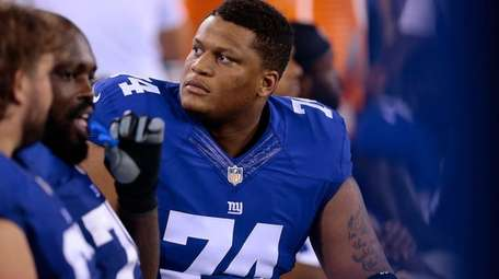 Giants offensive lineman Ereck Flowers is seen on